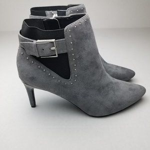 Calvin Klein Jozie Studded Pointed Toe Booties